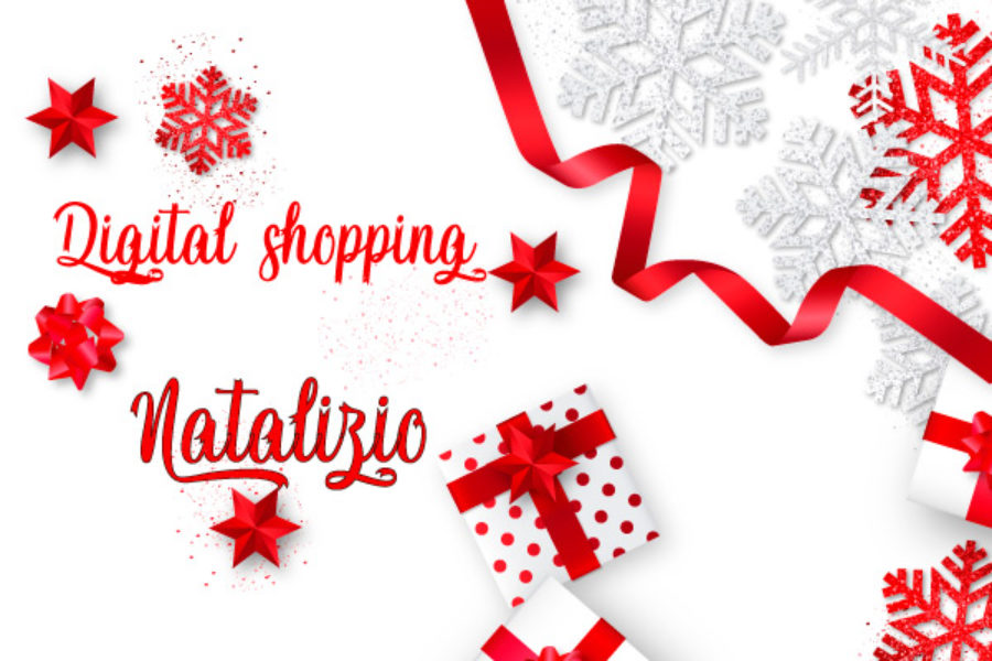 Digital shopping natalizio